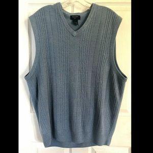 Dockers Blue/Gray Men's Sweater Vest Size 2XL